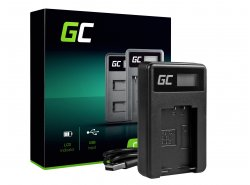 Camera Battery Charger DE-A83 Green Cell ® for Panasonic DMW-MBM9, Lumix DMC-FZ70, DMC-FZ60, DMC-FZ100, DMC-FZ40