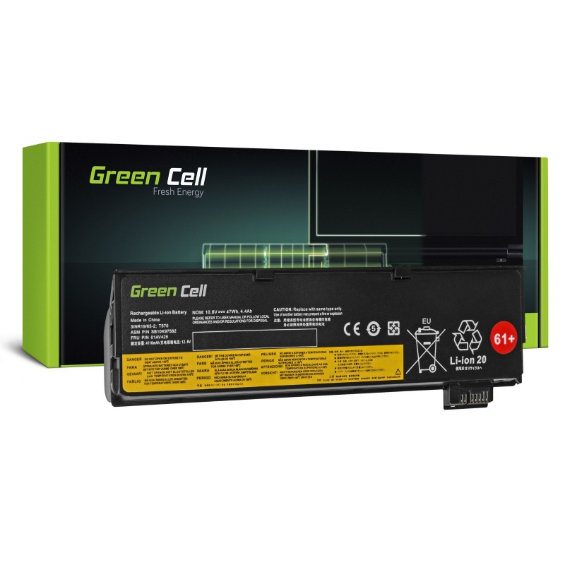 Green Cell® Extended Battery for Lenovo ThinkPad T470 T570 A475 P51S T25