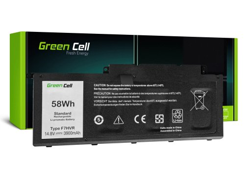 Green Cell Battery F7HVR 62VNH G4YJM 062VNH for Dell Inspiron 15 7537 17 7737 7746 P24E