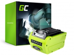 Green Cell ® Akku für Rasen GreenWorks 2601102 G-MAX 40V 4Ah Samsung