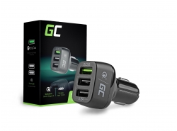 Car Charger 3 USB  Quick Charge Green Cell