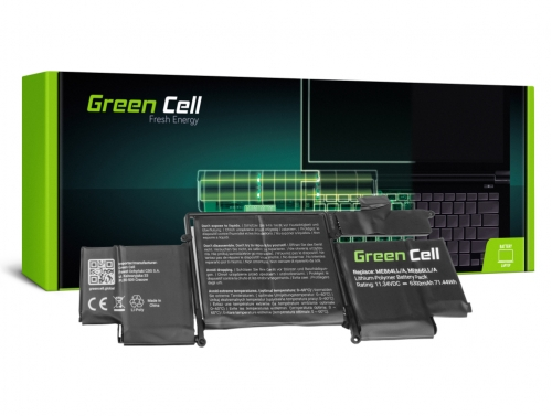 Green Cell Battery A1493 for Apple MacBook Pro 13 A1502 (Late 2013 Mid 2014)