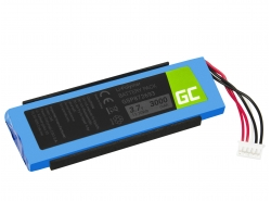 Green Cell ® Battery GSP872693 P763098 03 for portable Bluetooth Speaker JBL Flip III Flip 3, Li-Polymer 3.7V 3000mAh