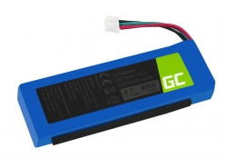 Green Cell ® Battery GSP1029102R P763098 for Speaker JBL Charge 2 Charge 2 Plus Charge 2+ Charge 3 2015 version, 3.7V 6000mAh