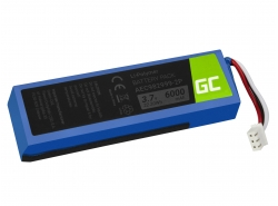 Green Cell ® Battery AEC982999-2P AEC9829992P for portable Bluetooth Speaker JBL Charge 1 Charge 2, Li-Polymer 3.7V 6000mAh