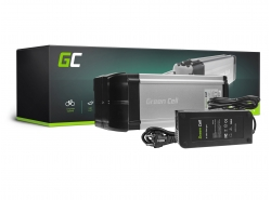 Accumulator Battery Green Cell Rear Rack 36V 8.8Ah 317Wh for Electric Bike E-Bike Pedelec