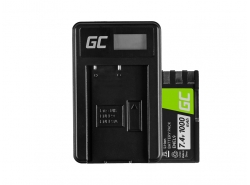 Green Cell ® Battery EN-EL9 / EN-EL9E and Charger MH-23 for Nikon D-SLR D40 D40A D40C D40X D60 D3000 D5000