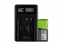 Green Cell ® Battery NP-BG1 and Charger BC-CSG for Sony DSC H10, H20, H50, HX5, HX10, T50, W50, W70