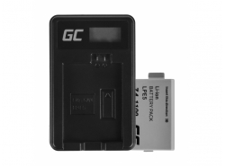 Green Cell ® Battery LP-E5 and Charger LC-E5 for Canon EOS 450D 500D 1000D Kiss Rebel