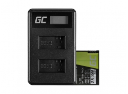 Green Cell ® Battery AHDBT-201 and Charger AHBBP-301 for GoPro Hero HD 3 3+ Black Silver White 1000mAh