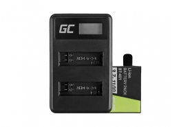 Green Cell ® Battery AHDBT-401 and Charger AHBBP-401 for GoPro Hero 4 Black Silver 1100mAh