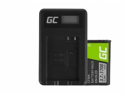 Green Cell ® Battery EN-EL23 and Charger MH-67 for Nikon Coolpix B700, P600, P610, P900, S810C
