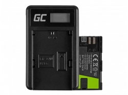 Green Cell ® Battery LP-E6 and Charger LC-E6 for Canon EOS 70D, 5D Mark II/ III, 80D, 7D Mark II, 60D, 6D, 7D 7.4V 1600mAh