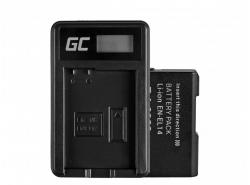 Green Cell ® Battery EN-EL14 and Charger MH-24 for Nikon D3200, D3300, D5100, D5200, D5300, D5500 P7000, P7700
