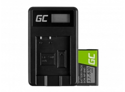 Green Cell ® Battery NP-BN1 and Charger BC-CSN for Sony Cyber-Shot DSC-QX10 DSC-QX100 DSC-TF1 DSC-TX10 DSC-W530