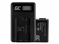 Green Cell ® Battery DMW-BMB9(Half-Decoded) and Charger DE-A83, DE-A84 for Panasonic DMC-FZ70, DMC-FZ60, DMC-FZ100