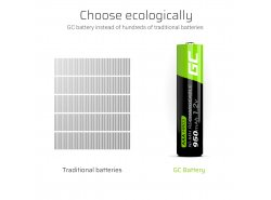 Green Cell 2x AAA HR03 950mAh Battery