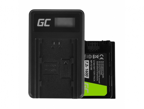 Green Cell Battery NP-FZ100 and Charger BC-QZ1 for Sony Alpha 9 9R 9S A7 III A7R III A9 A9R