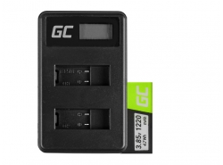 Green Cell ® Battery and Charger AHDBT-501 AABAT-001 for GoPro HD HERO5 HERO6 HERO7 Black 3.85V 1220mAh