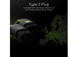 Cable Green Cell GC Type 2 for charging EV Tesla Leaf Ioniq Kona E-tron Zoe 22kW