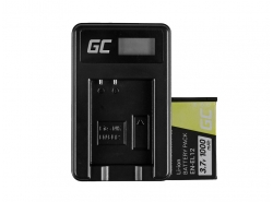 Green Cell Battery EN-EL12 and Charger MH-65 for Nikon Coolpix AW100 AW120 S9500 S9300 S9200 S9100 S8100 S6300