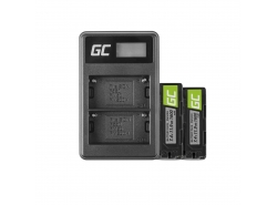 Green Cell ® Battery NP-500 and Charger BC-V615 for Sony A58, A57, A65, A77, A99, A900, A700, A580