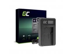 Camera battery charger BC-TRP Green Cell for Sony NP-FH50 DCR-HC45 DCR-SR300E DCR-SR70 DCR-SX50E