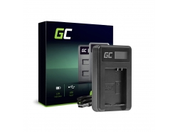 Camera battery charger CB-2LCE Green Cell for Canon NB-10L PowerShot G15, G16, G1X, G3X, SX40 HS, SX40HS, SX50 HS