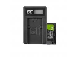 Green Cell ® Battery NP-FH50 for Sony DCR-HC45, DCR-SR300E, DCR-SR70, DCR-SX50E 7.4V 650mAh