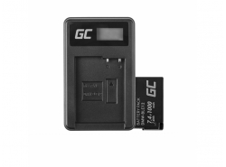 Green Cell Battery DMW-BLC12 and Charger DE-A79B for Panasonic FZ2000, G81, FZ1000, FZ300, G6M, GX8M, G70M, G70KA, GX8, G70
