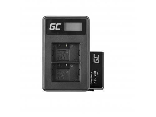 Green Cell ® Battery DMW-BMB9(Half-Decoded) and Charger DE-A83, DE-A84 for Panasonic DMC-FZ70, DMC-FZ60, DMC-FZ100