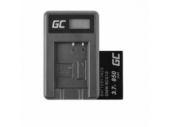 Green Cell ® Battery DMW-BCG10 for Panasonic Lumix DMC-TZ10 DMC-TZ20 DMC-TZ30 DMC-ZS5 DMC-ZS10 DMC-ZX1 DMC-ZX3 3.7V 850mAh