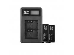 Green Cell ® 2x Battery DMW-BMB9(Half-Decoded) and Charger DE-A83, DE-A84 for Panasonic DMC-FZ70, DMC-FZ60, DMC-FZ100