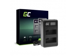 Camera battery charger LC-E8 Green Cell for Canon LP-E8 EOS Rebel T2i, T3i, T4i, T5i, 600D, 550D, 650D, 700D, Kiss X5, X4, X6