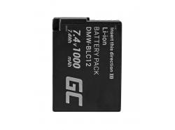 Battery Green Cell ® DMW-BLC12E for cameras Panasonic Lumix G5 G5X G6 G7 G80 DMC FZ300 FZ1000 FZ2000 Full Decoded 1000mAh