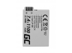 Battery Green Cell® LP-E8 LPE8 for cameras Canon EOS 550D 600D 650D 700D Kiss X4 X5 X6 Rebel T2i T4i Full Decoded 7.4V 1100mAh