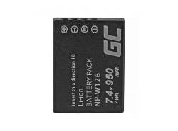 Battery Green Cell ® NP-W126 for cameras Fujifilm FinePix X-Pro1 X-Pro2  X-T2 X-M1 X-E1 HS30EXR X-T20 X100F X-T1 7.4V 950mAh