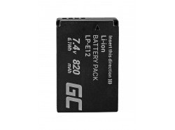 Green Cell ® Battery LP-E12 for Canon EOS M100, EOS100D, EOS-M, EOS M2, EOS M10, Rebel SL1 7.4V 820mAh