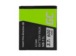 Battery Green Cell® NB-11L for cameras Canon IXUS 125HS 240HS 265HS 275HS 285HS PowerShot ELPH 110HS 320HS 340HS 9 3.7V 600mAh