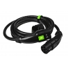 Cable Green Cell GC Type 2 for charging EV Tesla Leaf Ioniq Kona E-tron Zoe 22kW 5 meter with case