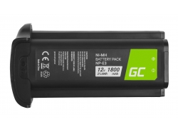 Battery Green Cell ® NP-E3 for cameras Canon EOS-1D Mark II EOS-1Ds Mark II EOS-1Ds EOS-1D Mark II N, Full Decoded 12V 1800mAh