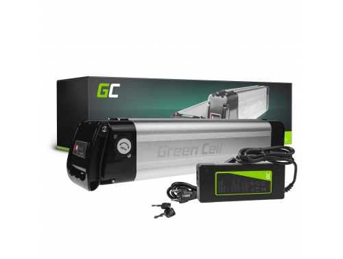 Green Cell® E-Bike Battery 36V 8.8Ah Li-Ion Silverfish with Charger