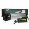 Accumulator Battery Green Cell Silverfish 36V 8.8Ah 317Wh for Electric Bike E-Bike Pedelec