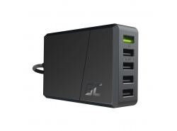 Green Cell GC ChargeSource 5 5xUSB 52W charger with fast charging Ultra Charge and Smart Charge (With 4ft UK Cable)