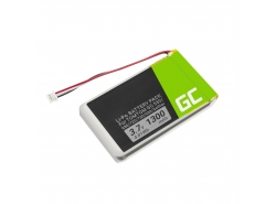 Battery Green Cell ® AHL03714000 VF8 1697461 for TomTom GO 530 630 630T 720 730 730T 930 930T SatNav, Li-Polymer 1300mAh 3.7V