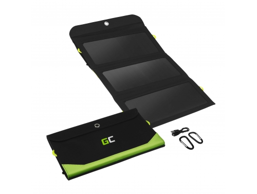 Solar Panel, Green Cell GC SolarCharge 21W charger with 6400mAh power bank function