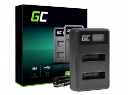 Green Cell ® dual charger LI-50C  for Olympus LI-50B, SZ-15 SZ-16 Tough 6000 8000 TG-810 TG-820 TG-830 TG-850 VR-370 XZ-1