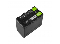 Accumulator Battery Green Cell NP-F960 NP-F970 NP-F975 for Sony 7.4V 7800mAh