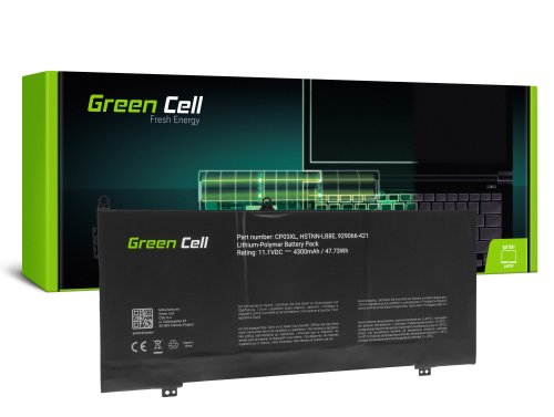 Green Cell Battery CP03XL for HP Spectre x360 13-AE 13-AE001NW 13-AE002NW 13-AE003NW
