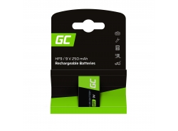 Green Cell Battery 1x 9V HF9 Ni-MH 250mAh